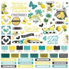 Simple Stories Sticker Sheet 12X12 - SV Lemon Twist