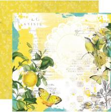 Simple Stories SV Lemon Twist Cardstock 12X12 - Sunshine & Lemonade