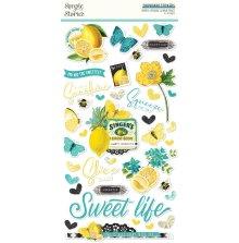 Simple Stories Chipboard Stickers 6X12 - SV Lemon Twist