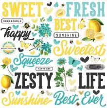 Simple Stories Foam Stickers 54/Pkg - SV Lemon Twist