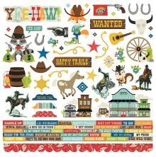 Simple Stories Sticker Sheet 12X12 - Howdy!