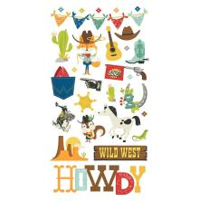 Simple Stories Chipboard Stickers 6X12 - Howdy!