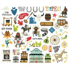 Simple Stories Bits & Pieces Die-Cuts 52/Pkg - Howdy!