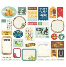 Simple Stories Journal Bits Die-Cuts 39/Pkg - Howdy!