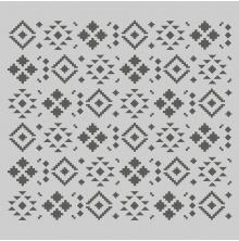 Simple Stories Howdy! Stencil 6X6 - Aztec