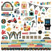 Simple Stories Sticker Sheet 12X12 - Family Fun