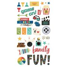 Simple Stories Chipboard Stickers 6X12 - Family Fun