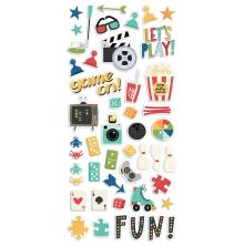 Simple Stories Puffy Stickers - Family Fun