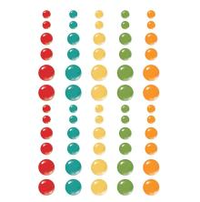 Simple Stories Enamel Dots 60/Pkg - Family Fun