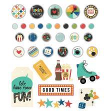 Simple Stories Decorative Brads - Family Fun