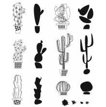 Tim Holtz Cling Stamps 7X8.5 - Mod Cactus