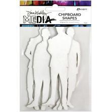 Dina Wakley Media Chipboard Shapes - The Men