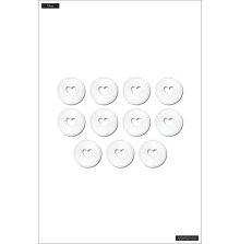Me & My Big Ideas Planner CLASSIC Metal Discs - White