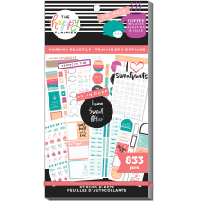 Me & My Big Ideas Happy Planner Stickers Value Pack - Working Remotely 833