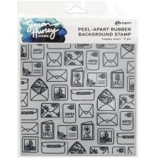Simon Hurley create. Background Stamp 6X6 - Happy Mail