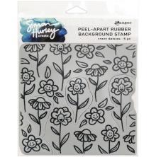 Simon Hurley create. Background Stamp 6X6 - Crazy Daisies
