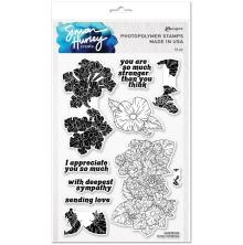 Simon Hurley create. Clear Stamps 6X9 - Lovely Lantanas