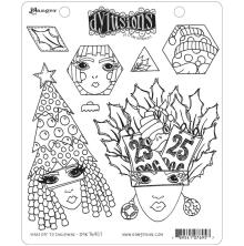 Dylusions Cling Stamps 8.5X7 - Hats Off To Christmas