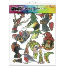 Dylusions Collage Sheets 8.5 X 11 - Christmas