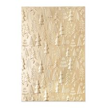 Sizzix 3-D Textured Impressions Embossing Folder - Christmas Tree Pattern