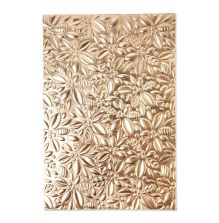 Sizzix 3-D Textured Impressions Embossing Folder - Holly