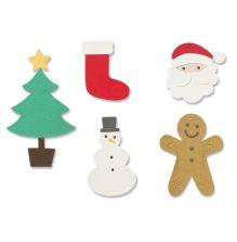 Sizzix Thinlits Dies - Basic Christmas Shapes