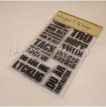 hÄnglar & Wings Clear Stamps - Blocktext