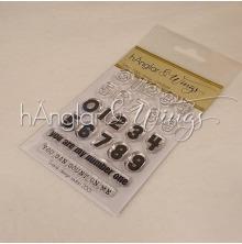 hÄnglar & Wings Clear Stamps - Siffror Fyllda + Kontur A7