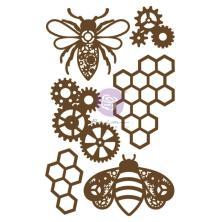 Prima Laser Cut Chipboard 6/Pkg - Powerful Bees