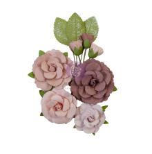 Prima Sharon Ziv Mulberry Paper Flowers 10/Pkg - Mystic Roses