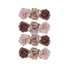 Prima Sharon Ziv Mulberry Paper Flowers 12/Pkg - Ethereal Flora