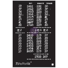 Prima Finnabair Stencil 6X9 - Book Of Numbers