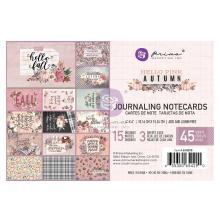 Prima Journaling Cards 4X6 45/Pkg - Hello Pink Autumn