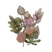 Prima Hello Pink Autumn Mulberry Paper Flowers 12/Pkg - Autumn Foilage
