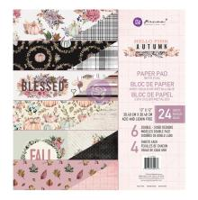Prima Double-Sided Paper Pad 12X12 24/Pkg - Hello Pink Autumn