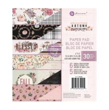 Prima Double-Sided Paper Pad 6X6 30/Pkg - Hello Pink Autumn