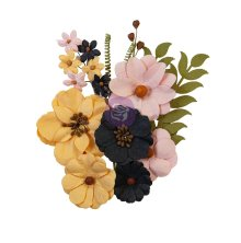 Prima Thirty-One Mulberry Paper Flowers 12/Pkg - All Hollows Eve