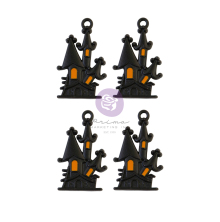 Prima Metal Charms 4/Pkg - Thirty-One By Frank Garcia Haunted House
