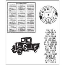 Tim Holtz Cling Stamps 7X8.5 - Elements Of Time