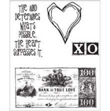 Tim Holtz Cling Stamps 7X8.5 - From The Heart