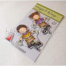 hÄnglar & Wings Clear Stamps - Cyklister 2021