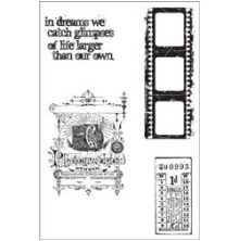 Tim Holtz Cling Stamps 7X8.5 - Captured Moments