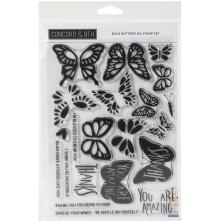 Concord & 9th Clear Stamps 6X8 - Bold Butterflies