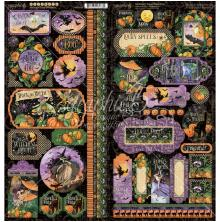 Graphic 45 Cardstock Stickers 12X12 - Midnight Tales