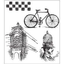 Tim Holtz Cling Stamps 7X8.5 - Pen & Pencil