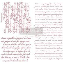 Prima Redesign Decor Clear Stamps 12X12 - Vintage Script
