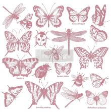 Prima Redesign Decor Clear Stamps 12X12 - Monarch Collection