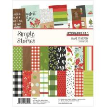Simple Stories Double-Sided Paper Pad 6X8 - Make It Merry