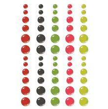 Simple Stories Enamel Dots 60/Pkg - Make It Merry