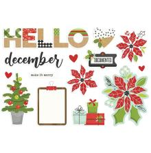 Simple Stories Simple Page Pieces - Make It Merry Hello December